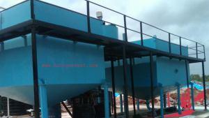 collecton tank of effluent treatment plant in textile industry