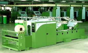 The Lap Former m/c is used for Lapping Cotton by Fabric Machine