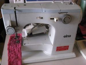 Elna single needle lockstich sewing machine