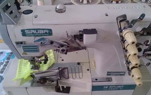 Interlock Machine. Adjusting and Threading a Sewing Machine