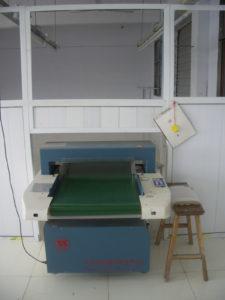 industrial metal detector setup