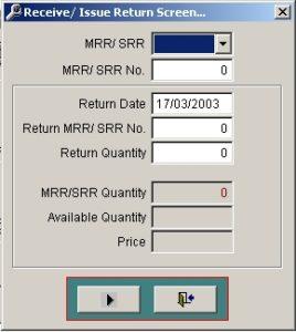 Return Transaction Screen