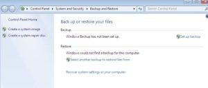 backup e restore