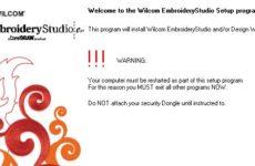 Wilcom Embroidery Studio e1.5 Installation Procedure