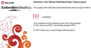 Wilcom Embroidery Studio e1.5 Installation Procedure