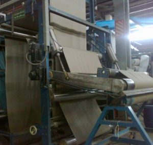 Pad Steam Dyeing Machine - Fabric outlet