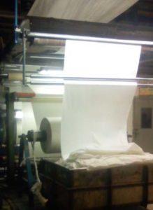 Fabric inlet of Peach Finish Machine