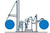 Sketch Diagram of Cold Pad Batch Dyeing Machine