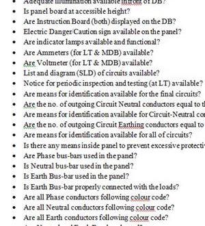 Gas and Diesel Generator Maintenance Checklist