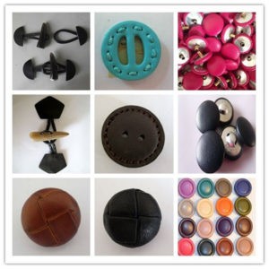 real leather button